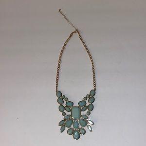 Fancy light blue necklace